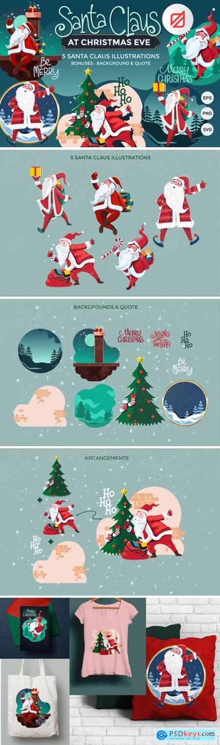 Santa Claus at Christmas Eve 2131233
