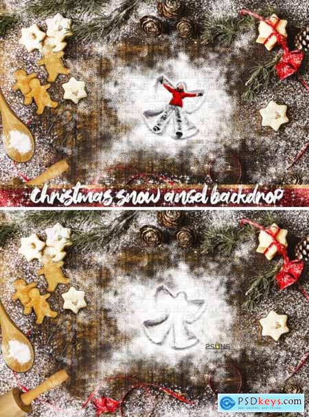Christmas Backdrop Snow Angel Cookie 2139076