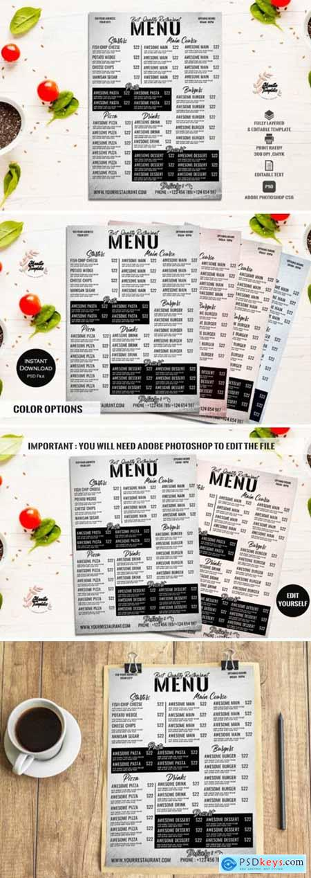 Restaurant Menu Template 2138931