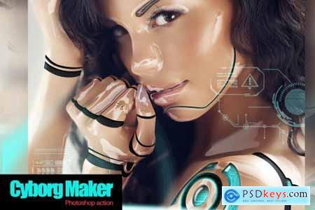 Cyborg Maker Photoshop Action 4267630