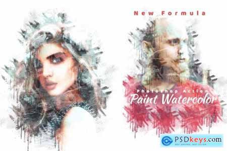 Paint Watercolor Photoshop Action 4280452