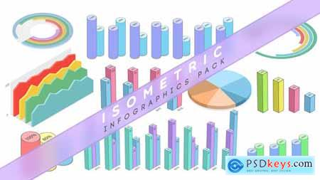 Videohive Isometric Infographics Pack 22982294
