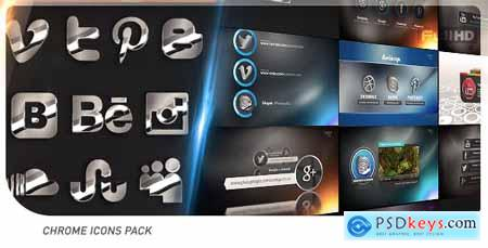 Videohive Social Chrome Icons Pack 19710721