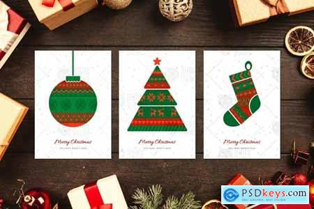 Norwegian Christmas Greeting Cards Set