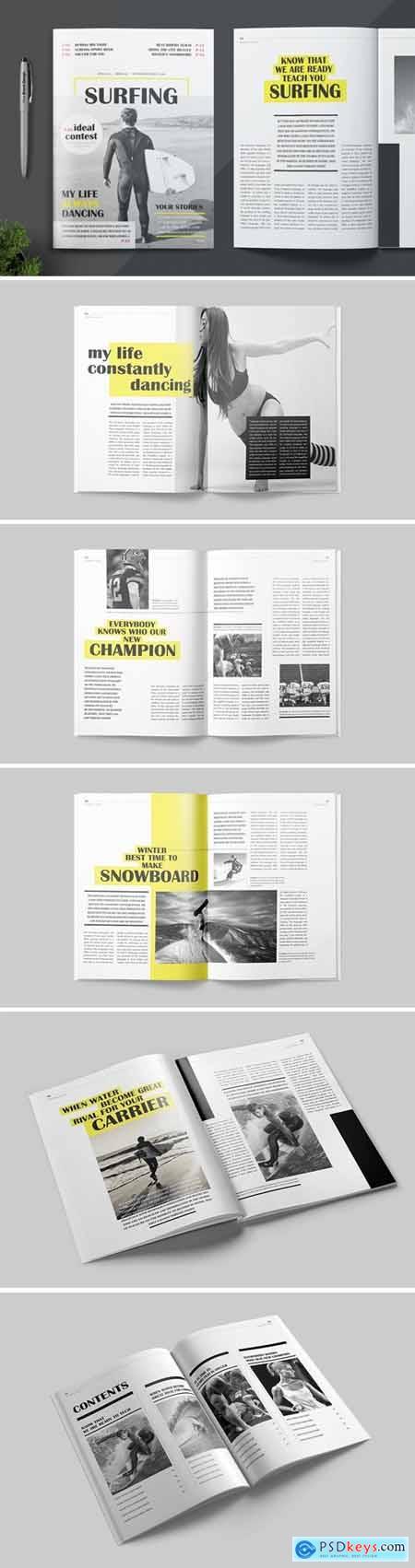 Magazine Template REBSDWX