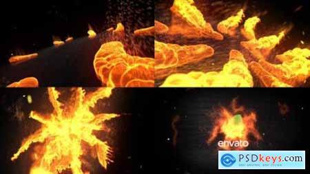 Videohive Fire Logo Opener 16041978