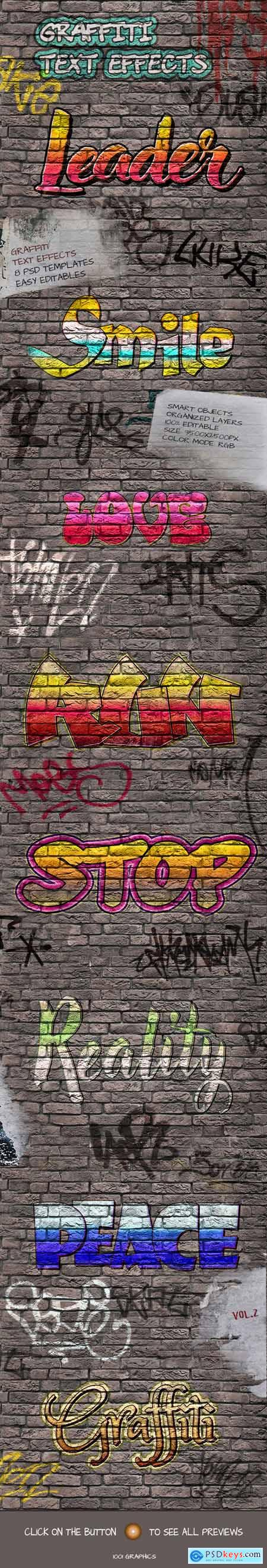 8 Graffiti Text Effects - 8 PSD Templates Vol.2 25033075