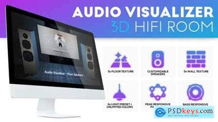 Videohive Audio Visualizer 3D Music Room 24003942