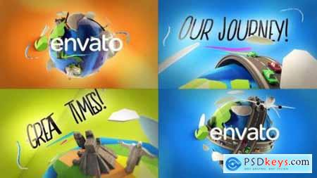 Videohive Travel Planet Logo Reveals 23264549