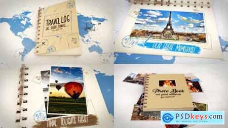Videohive Travel Book Logo Reveals 23113115