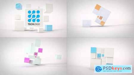 Videohive Clean Dynamic Cubes Logo Reveals 23494243