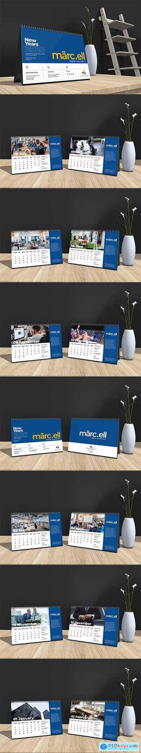 Marcell Corporate Table Calendar 2020