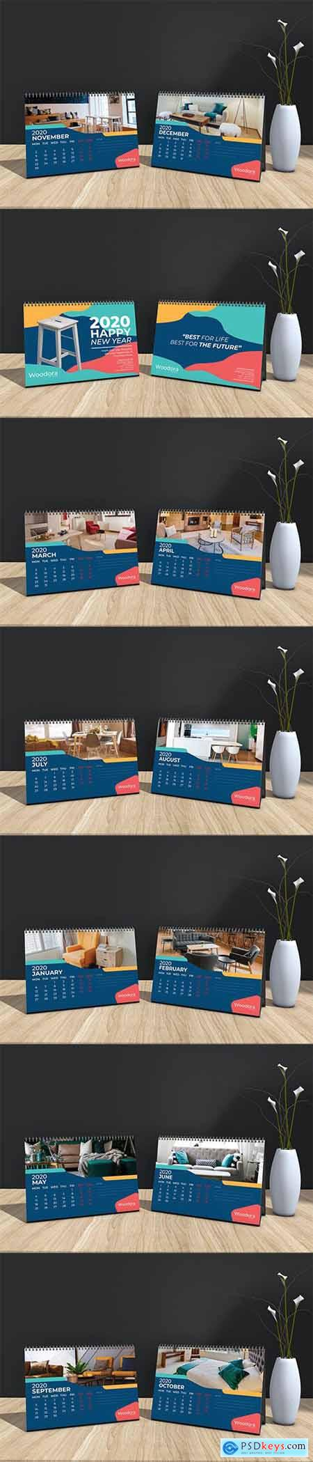 Woodora Furniture Table Calendar 2020