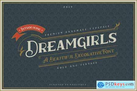 Dreamgirls - Vintage Decorative Serif Font