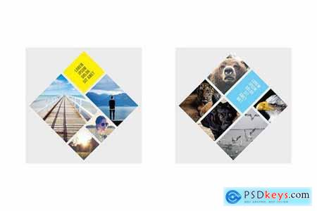 Rhombic Photo Frame Templates