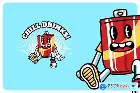 Soda Drinks - Mascot & Esport Logo