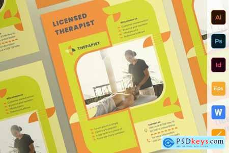 Therapist Poster Flyer Business Card Brochure Bifold Trifold