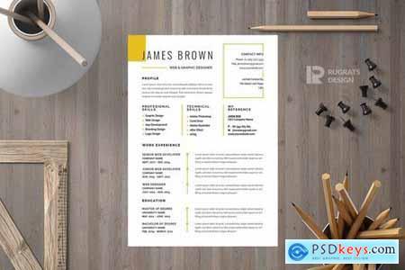 Minimalist CV Resume R17 Template