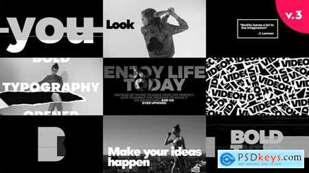 Videohive Bold Typo Openers Pack V3 22513695