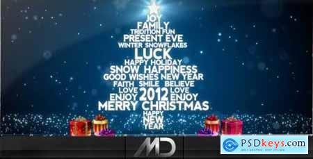 Videohive Christmas New Year Flying Words 918559