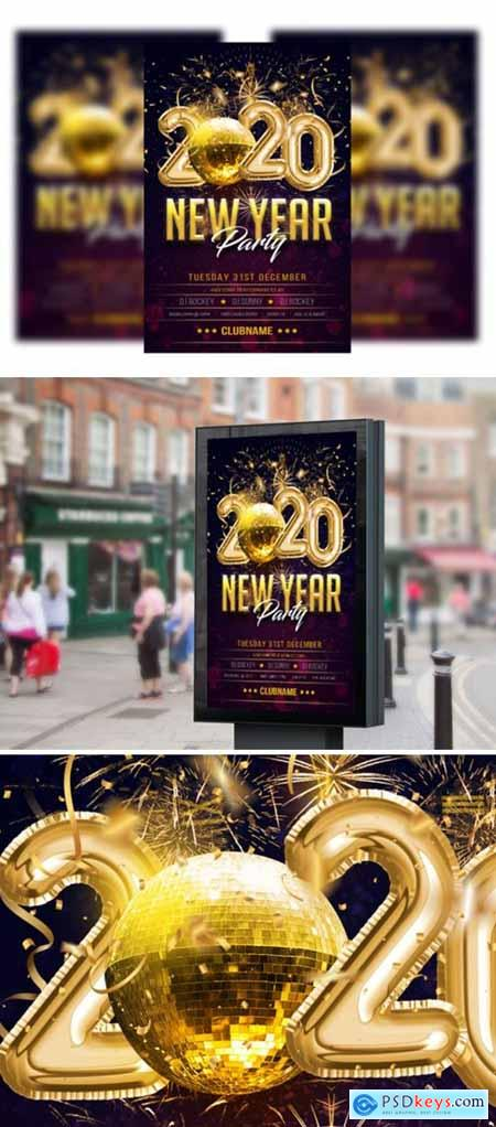 Happy New Year Flyer-poster Template 2196298