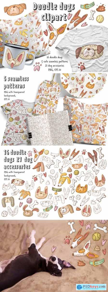 Doodle Dogs Clipart Set 2178262