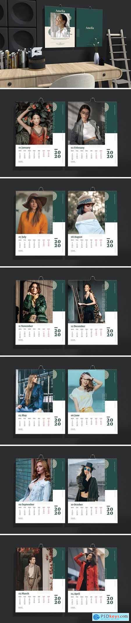 Amelia - Fashion Wall Calendar 2020