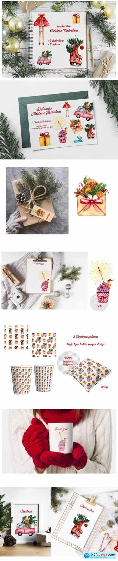 Watercolor Christmas Illustrations 2178831