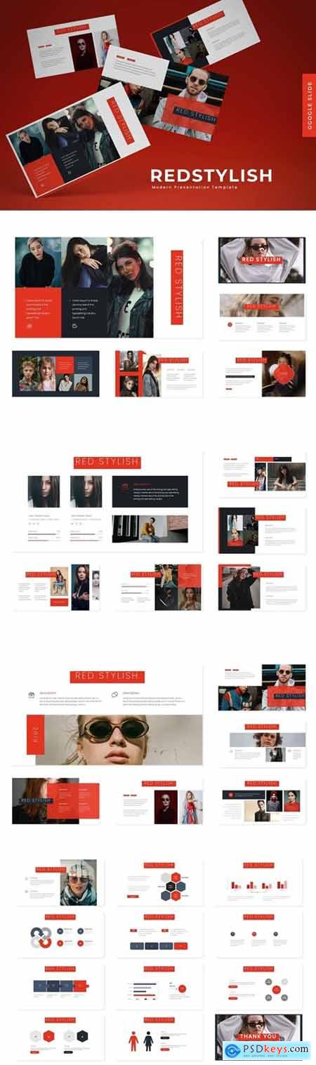 Red Stylish Powerpoint, Keynote and Google Slides Templates