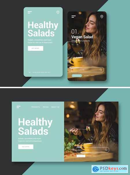 Restaurant Landing Page and Mobile UI Kit