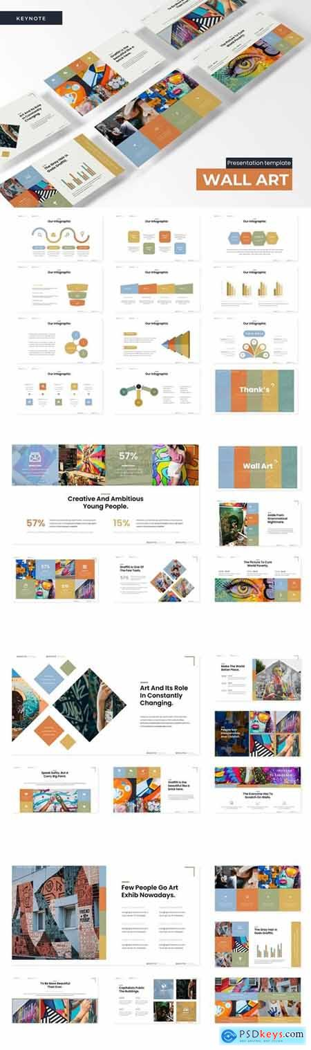 Wall Art Powerpoint, Keynote and Google Slides Templates