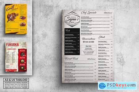 Various Food Menu Poster Design Bundle