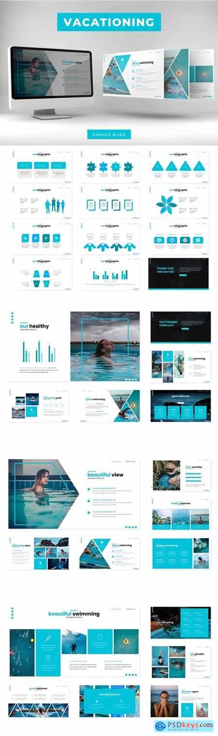 Vacationing Powerpoint, Keynote and Google Slides Templates