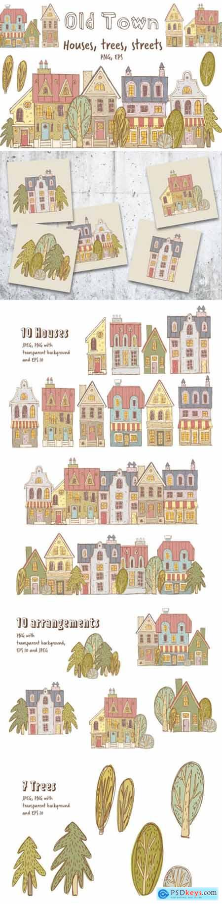 Old Town Clipart Collection 2178272