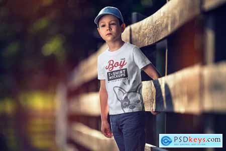 Boy T-Shirt Mock-Up Set 4345126