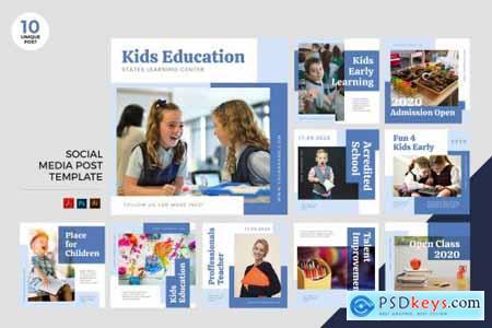 Children Education Social Media Kit PSD & AI