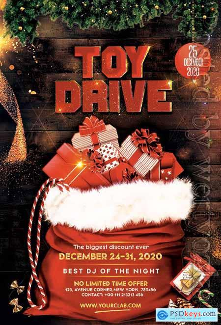 Christmas Toy Drive - Premium flyer psd template