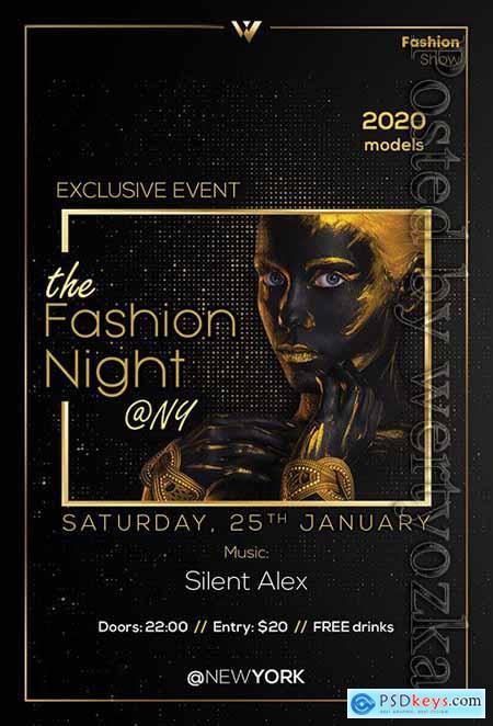 Fashion Night - Premium flyer psd template