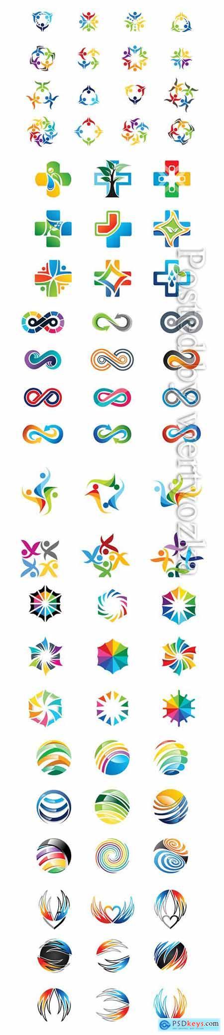 Designer logos in vector