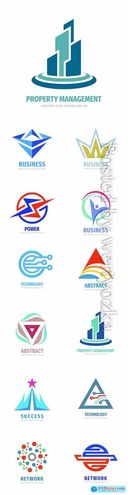 Company business logo in vector