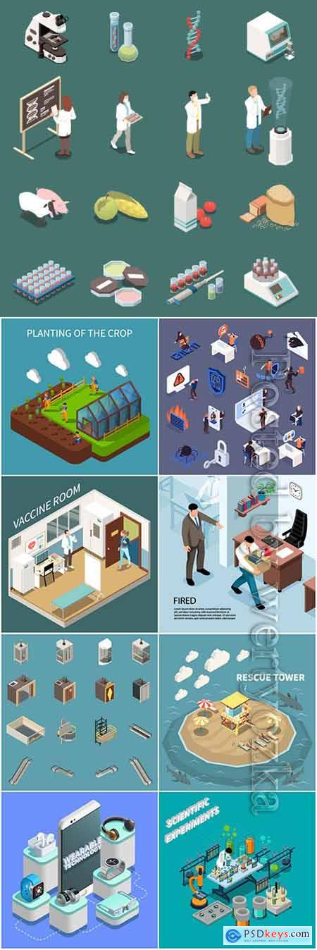 Flat isometric vector 3D concept illustration # 95