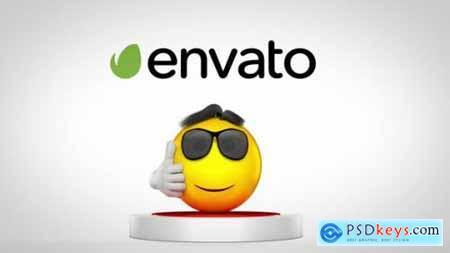 Videohive Jumping Emoji Logo Reveal 22989239