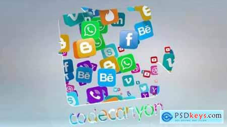 Videohive Social Media Logo Reveal 22961543