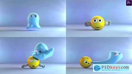 Videohive Ghost And Emoji Logo Reveal 22960702