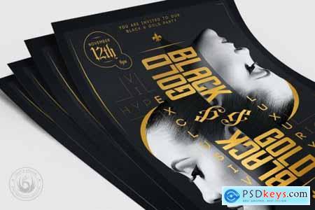 Black and Gold Flyer Template V17 4366236