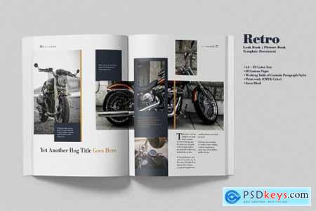 Retro Look Book Indesign Template 4359628