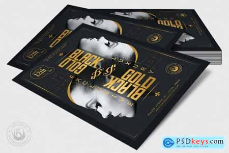Black and Gold Flyer Template V17 4366236