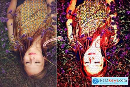 Pixelate Oil Paint Action 4353339