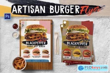 Fun Artisan Burger Flyer