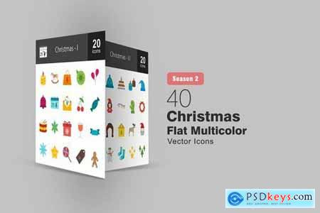 Christmas Flat and Filled Icons Pack